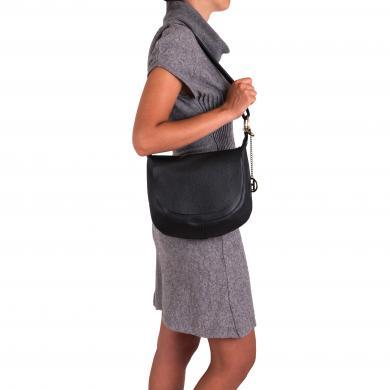 LIA BIASSONI melna ādas sieviešu soma