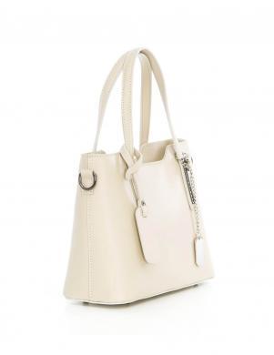 ANNA MORELLINI krēmīgas krāsas sieviešu ādas soma