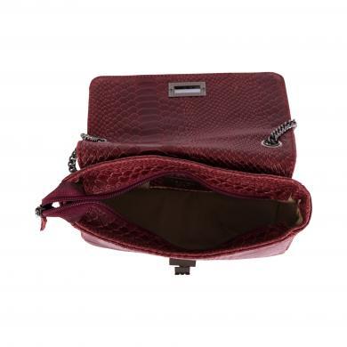 MIA TOMAZZI sarkana ādas sieviešu soma
