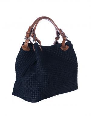 LUCCA BALDI zilas krāsas ādas sieviešu soma