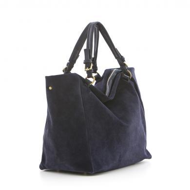 LUCCA BALDI zila ādas sieviešu soma