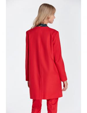 COLETT sarkanas krāsas stilīga sieviešu jaka