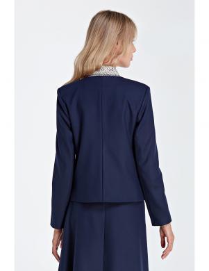 COLETT tumši zilas krāsas stilīga sieviešu jaka
