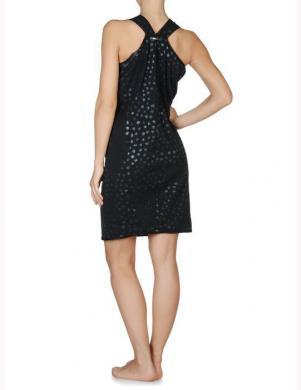 DIESEL melnas krāsas stilīga sieviešu kokvilnas kleita ED-DANJUMA