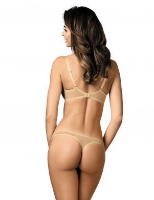 GORTEKS smilšu krāsas sieviešu stringa apakšbikses