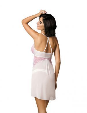 GORTEKS krēmīgas/rozā krāsas sieviešu naktskrekls Jolie