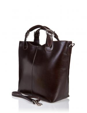 PIA SASSI tumši brūnas krāsas ādas sieviešu soma
