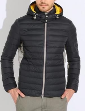 GEOX tumši zilas krāsas vīriešu dūnu jaka ar kapuci