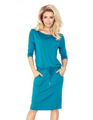 NUMOCO zilas krāsas stilīga sieviešu kleita