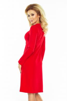 NUMOCO sarkana stilīga kleita