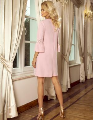 NUMOCO rozā stilīga kleita
