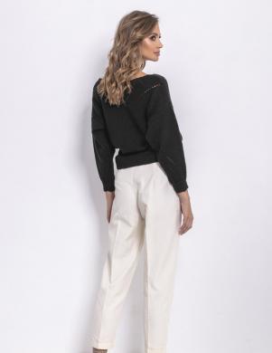 FOBYA sieviešu melnas krāsas džemperis
