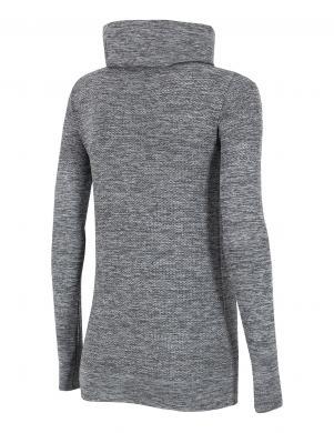 4F pelēkas krāsas sieviešu termo krekls ar augstu apkakli