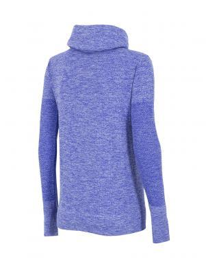 4F zilas krāsas sieviešu brīva laika džemperis