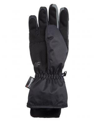 4F sieviešu melnas krāsas slēpošanas cimdi