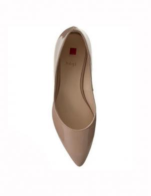 Sieviešu miesas krāsas lakoti balerīnas apavi HOGL