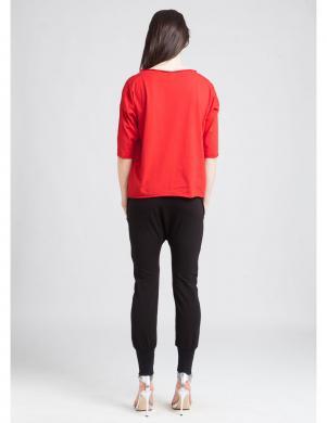 KORTAS sarkanas krāsas sieviešu kokvilnas blūze INA