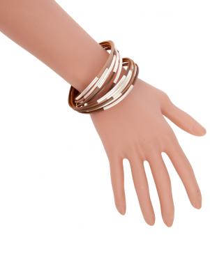 MADE FOR LOVING brūnas krāsas sieviešu rokassprādze
