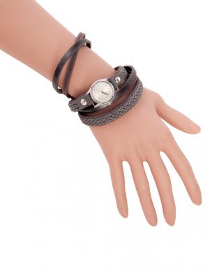Brūnas/melnas krāsas sieviešu pulkstenis