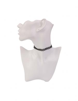 MADE FOR LOVING melnas krāsas sieviešu kaklarota choker