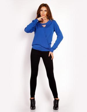 LOU-LOU sieviešu zilas krāsas blūze