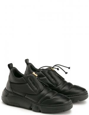 AGL sieviešu melni ādas ikdienas apavi VENUS