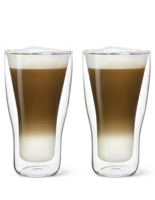 LUIGI BORMIOLI dubulta stikla trauks - glāze 340 ml Latte Macchiato, 2 gab.