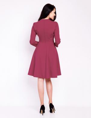 INFINITE YOU bordo krāsas stilīga sieviešu kleita