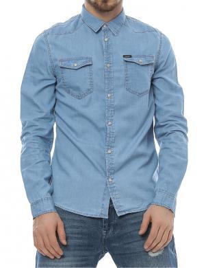 GUESS zils vīriešu krekls