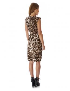 MELA LONDON leopardīga raksta pieguļoša kleita