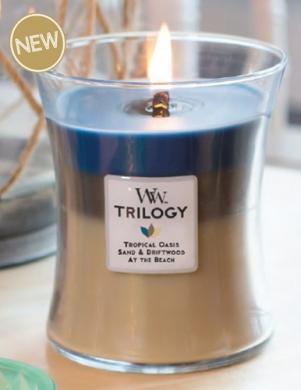 WOODWICK TRILOGY NAUTICAL ESCAPE vidējā lieluma svece