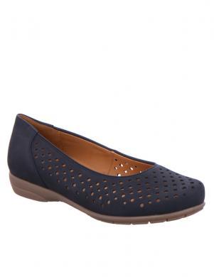 Sieviešu tumši zili zamšas perfotuoti apavi ARA