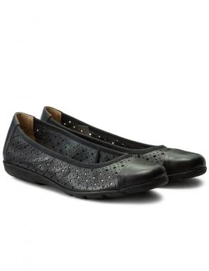 Sieviešu tumši zili apavi ar caurumiņiem CAPRICE