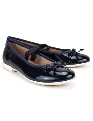 Bērnu zili lakoti apavi JR PLIE' GEOX