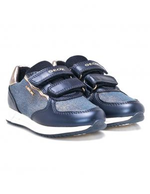 Bērnu zili apavi ar velkro aizdari J JENSEA GIRL GEOX