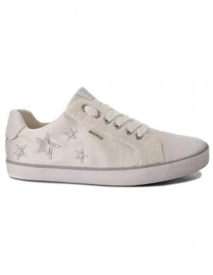 Bērnu balti šņorējami apavi JR KILWI GIRL GEOX