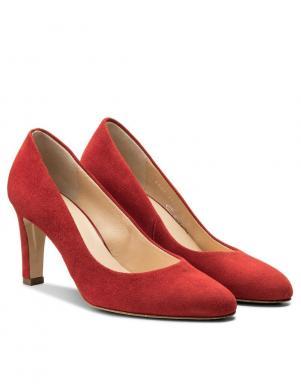 Sieviešu sarkani zamšādas augstpapēžu apavi HOGL