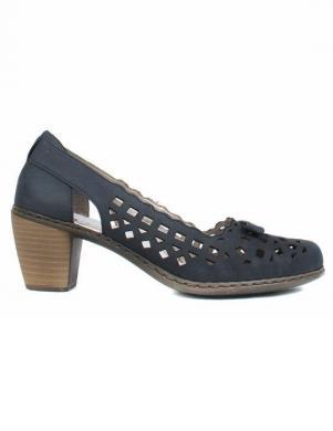 Sieviešu zili grieztas ādas apavi RIEKER