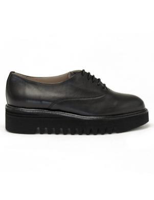 LA CONTE sieviešu melni šņorējami apavi