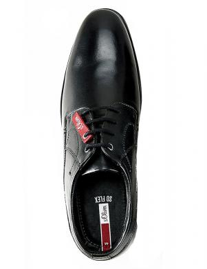 S.OLIVER vīriešu melni klasiski apavi