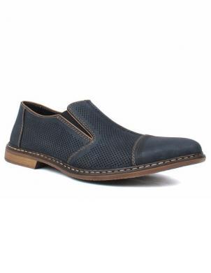 RIEKER vīriešu zili ādas perforēti apavi