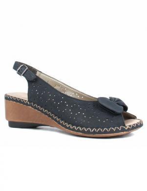 RIEKER sieviešu zilas ādas sandales