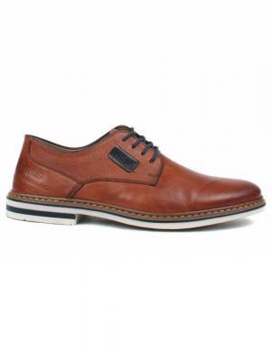 RIEKER vīriešu brūni ādas šņorējami apavi