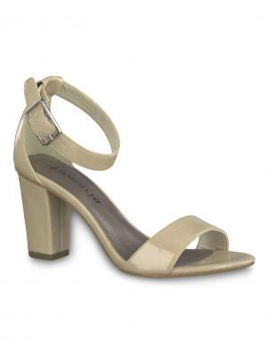 TAMARIS sieviešu gaišas lakotas augstpapēžu sandales HEITI