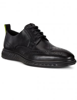 ECCO vīriešu melni apavi ST1 HYBRID LITE