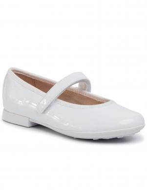 GEOX bērnu balti balerīnas apavi meitenēm PLIE