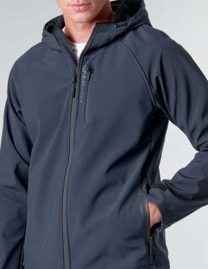 SUPERDRY vīriešu tumši zila jaka ar kapuci HOODED SOFTSHELL JACKET