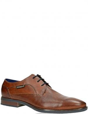 BUGATTI vīriešu brūni ādas klasiski apavi Levio