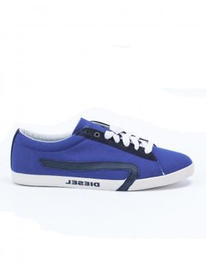 DIESEL vīriešu spilgti zili vasaras sporta apavi no tekstīla