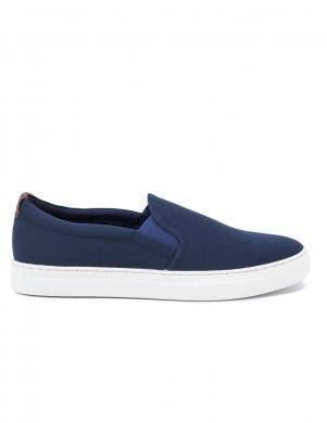 VAGABOND vīriešu zili tekstīla apavi ar baltu zoli